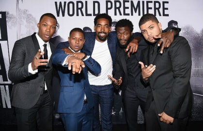 Corey Hawkins, Jason Mitchell, Marlon Yates, Jr., Aldis Hodge, O'Shea Jackson, Jr./ Getty Images