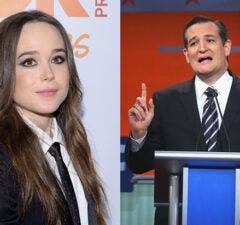 Ellen Page Ted Cruz