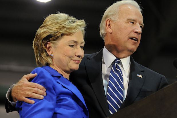 Joe Biden Campaigns With Hillary And Bill Clinton In Scranton