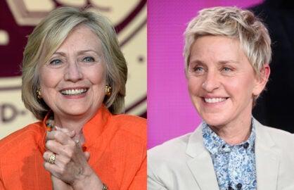 Hillary Clinton Ellen DeGeneres
