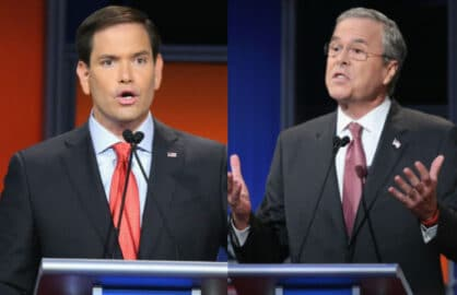Jeb Bush and Marko Rubio-2