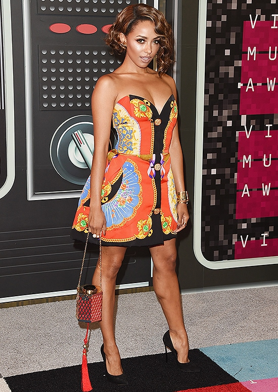 LOS ANGELES, CA - AUGUST 30: Actress Kat Graham attends the 2015 MTV Video Music Awards at Microsoft Theater on August 30, 2015 in Los Angeles, California. (Photo by Jason Merritt/Getty Images)