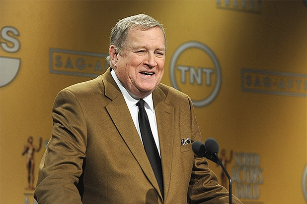 WEST HOLLYWOOD, CA - DECEMBER 11: SAG-AFTRA President Ken Howard speaks onstage at the 20th Annual Screen Actors Guild Award Nominations at Pacific Design Center on December 11, 2013 in West Hollywood, California. (Photo by Kevin Winter/Getty Images)