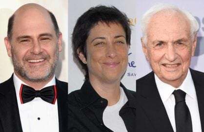 Matthew Weiner, Carolyn Strauss, Frank Gehry (Getty Images)
