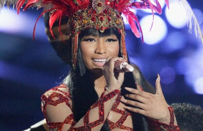LOS ANGELES, CA - AUGUST 30:  Recording artists Nicki Minaj performs onstage during the 2015 MTV Video Music Awards at Microsoft Theater on August 30, 2015 in Los Angeles, California.  (Photo by Kevork Djansezian/Getty Images)