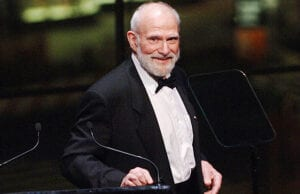 NEW YORK - NOVEMBER 06: Dr. Oliver Sacks speaks at the Music Has Power Awards Benefit in the Allen Room at the Frederick P. Rose Hall, Home of Jazz at Lincoln Center on November 6, 2006 in New York City. (Photo by Brad Barket/Getty Images)