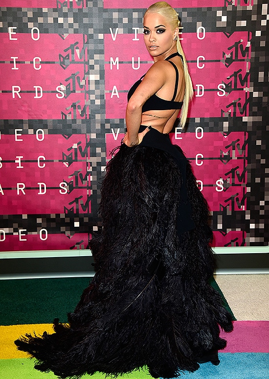 LOS ANGELES, CA - AUGUST 30: Recording artist Rita Ora attends the 2015 MTV Video Music Awards at Microsoft Theater on August 30, 2015 in Los Angeles, California. (Photo by Frazer Harrison/Getty Images)