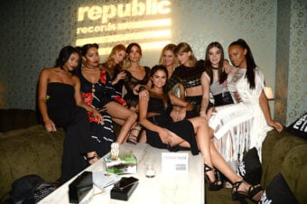 """The top squad in Hollywood made an entry in the coffee table book """"Hollywood in the 2010's"""" after the 2015 VMA's. (Kevin Mazur/Getty Images)"""