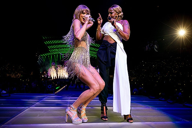 Taylor Swift Gets Her Swagger On With Mary J Blige Chris Rock