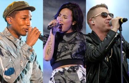 VMAs Pharrell Williams Demi Lovato Macklemore