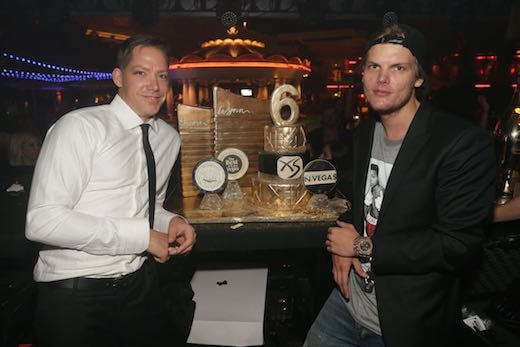 Waits with his good friend and Wynn resident superstar Avicii. (Wynn Nightlife)