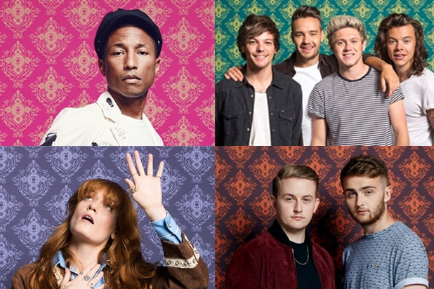 Pharrell Williams, One Direction, Florence + The Machine, Disclosure