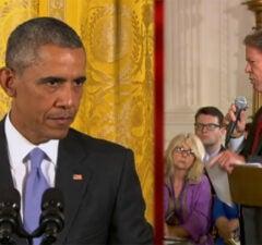 President Barack Obama and CBS News Correspondent Major Garrett (CBS)
