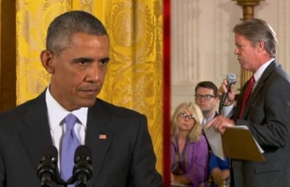 President Barack Obama and CBS News Correspondent Major Garrett (CBS)