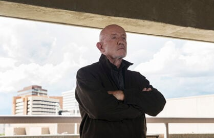 Jonathan Banks as Mike Ehrmantraut - Better Call Saul _ Season 1, Episdoe 9 - Photo Credit: Ursula Coyote/AMC
