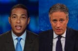 Don Lemon and Jon Stewart (CNN; Comedy Central)