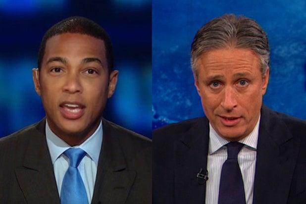 Don Lemon and Jon Stewart (CNN; Comedy Central)