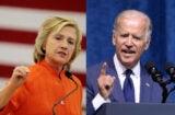 Hillary Clinton and Joe Biden (Isaac Brekken; Jason Davis/Getty Images)