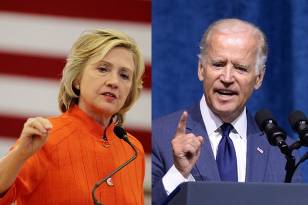 Hillary Clinton and Joe Biden (Isaac Brekken; Jason Davis/Getty Images)