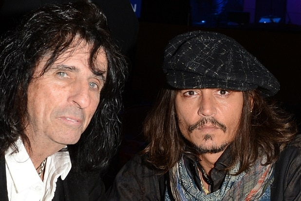 LOS ANGELES, CA - FEBRUARY 09: Musician Alice Cooper (L) and actor Johnny Depp attend the 55th Annual GRAMMY Awards Pre-GRAMMY Gala and Salute to Industry Icons honoring L.A. Reid held at The Beverly Hilton on February 9, 2013 in Los Angeles, California. (Photo by Larry Busacca/Getty Images for NARAS)