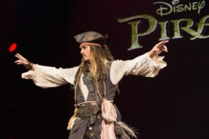 Johnny Depp, Pirates of the Caribbean 5, D23 event (Disney)