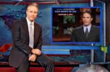 Jon Stewart with younger self (Martin Crook/Comedy Central)