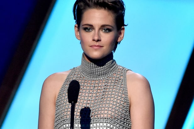 Wardrobe malfunction: Kristen Stewart (Kevin Winter/Getty Images)