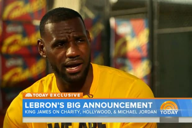 2dc600548dce LeBron James Talks  Space Jam 2  on  Today  Show   Hopefully We Can Do Some  Great Things  (Video)