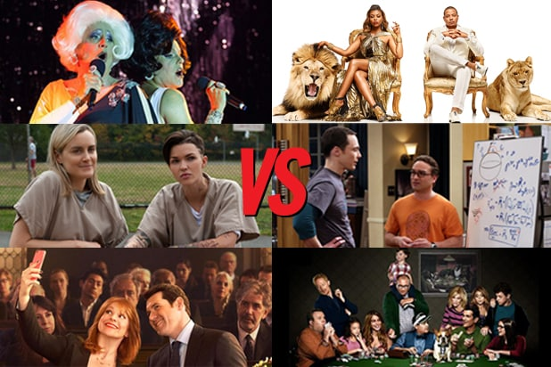 Transparent, Orange Is the New Black, Difficult People VS. Empire, Big Bang Theory, Modern Family