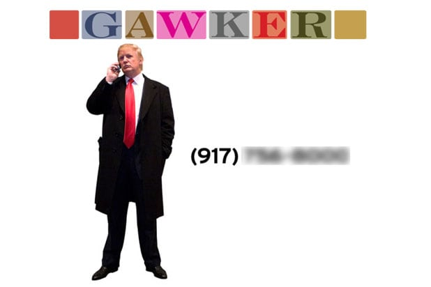 Gawker Posts Donald Trump S Cell Phone Number Mailbox Is Full