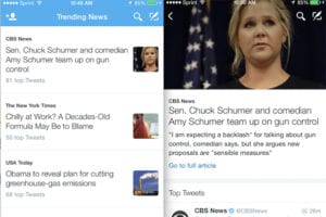 Twitter News tab for iOS and Android