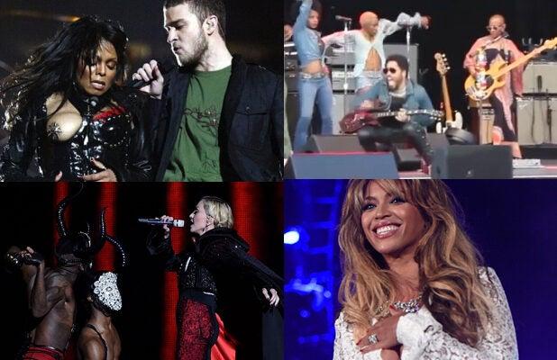 Janet Jackson, Justin Timberlake, Lenny Kravitz, Madonna, Beyonce