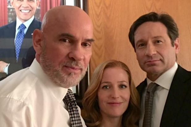 X-Files: Barack Obama, Mitch Pileggi, Gillian Anderson, David Duchovny
