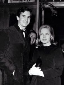 Anthony Perkins and Sue Mengers. (Photo by Hy Rothman/NY Daily News via Getty Images)