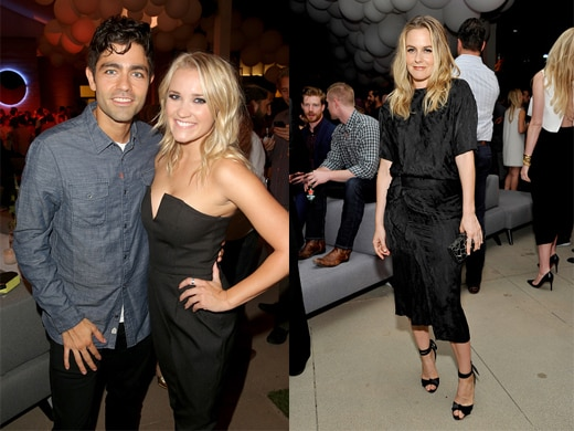 Adrian Grenier and Emily Osment; Alicia Silverstone. (John Schiulli/Getty Images)