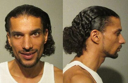 YUMA, AZ - SEPTEMBER 23: In this handout photo provided by Yuma County Sheriff's Office, former 'American Idol' contestant Corey Clark is seen in a police booking photo after his arrest on charges of felony domestic violence September 23, 2015 in Yuma, Arizona. He is reportedly due in court Thursday. (Photo by Yuma County Sheriff's Office)
