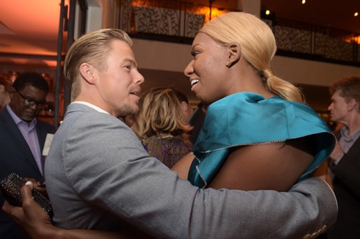 WEST HOLLYWOOD, CA - SEPTEMBER 18: Professional dancer Derek Hough and TV personality NeNe Leakes attend the 2015 Entertainment Weekly Pre-Emmy Party at Fig & Olive Melrose Place on September 18, 2015 in West Hollywood, California. (Photo by Jason Kempin/Getty Images for Entertainment Weekly)