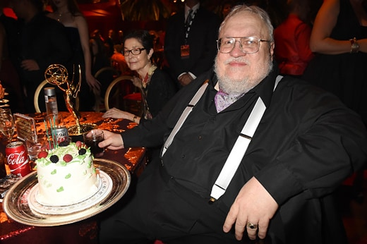 LOS ANGELES, CA - SEPTEMBER 20: (EXCLUSIVE COVERAGE) Writer George R. R. Martin attends HBO's Official 2015 Emmy After Party at The Plaza at the Pacific Design Center on September 20, 2015 in Los Angeles, California. (Photo by Jeff Kravitz/FilmMagic)