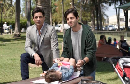 GRANDFATHERED: Pictured L-R: John Stamos as Jimmy and Josh Peck as Gerald. ©2015 Fox Broadcasting Co. CR: Erica Parise/FOX
