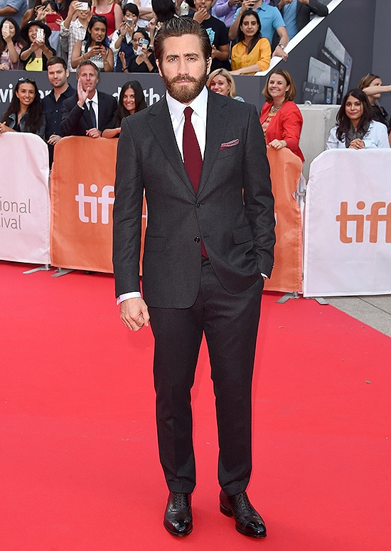TORONTO, ON - SEPTEMBER 10: Actor Jake Gyllenhaal attends the 'Demolition' premiere and opening night gala during the 2015 Toronto International Film Festival at Roy Thomson Hall on September 10, 2015 in Toronto, Canada. (Photo by Jason Merritt/Getty Images)
