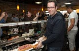 LOS ANGELES, CA - FEBRUARY 12: Jared Fogle (L) and Russell Westbrook make free sandwiches for the public as Russell Westbrook Joins Subway's Famous Fan Roster at Subway Restaurant on February 12, 2014 in Los Angeles, California. (Photo by Gabriel Olsen/Getty Images)