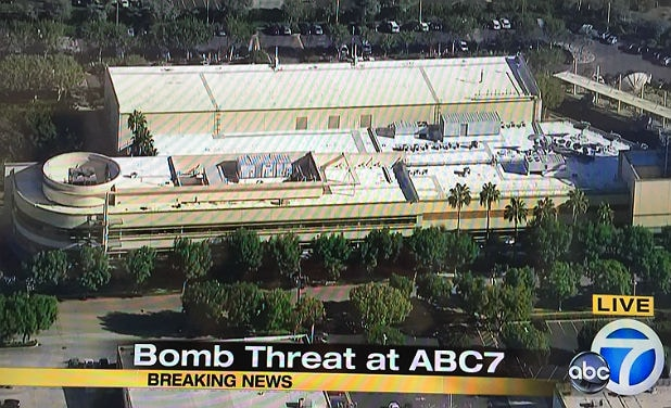 kabc tv in los angeles evacuated after bomb threat