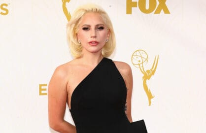 LOS ANGELES, CA - SEPTEMBER 20:  Recording artist/actress Lady Gaga attends the 67th Annual Primetime Emmy Awards at Microsoft Theater on September 20, 2015 in Los Angeles, California.  (Photo by Mark Davis/Getty Images)