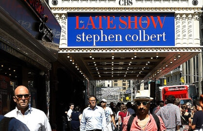 NEW YORK, NY - SEPTEMBER 08: Atmosphere at the first taping of 'The Late Show With Stephen Colbert' on September 8, 2015 in New York City. (Photo by John Lamparski/Getty Images)