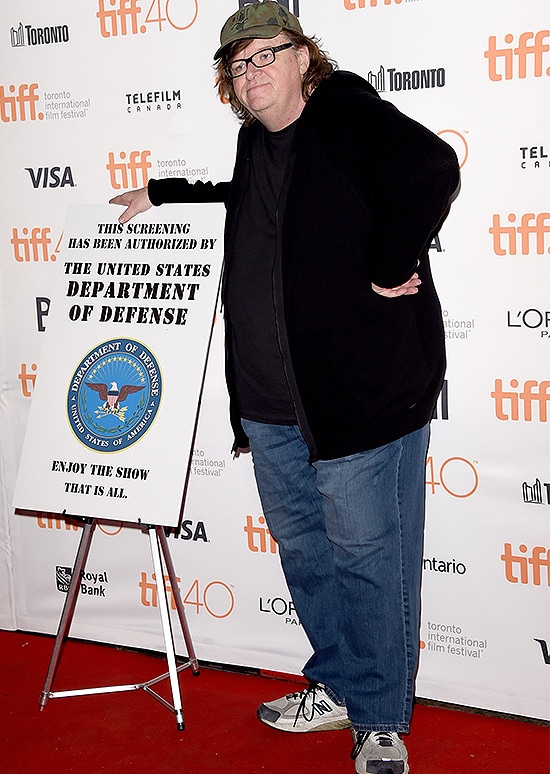 TORONTO, ON - SEPTEMBER 10: Filmmaker Michael Moore attends the 'Where to Invade Next' premiere during the 2015 Toronto International Film Festival at the Princess of Wales Theatre on September 10, 2015 in Toronto, Canada. (Photo by Jason Merritt/Getty Images)