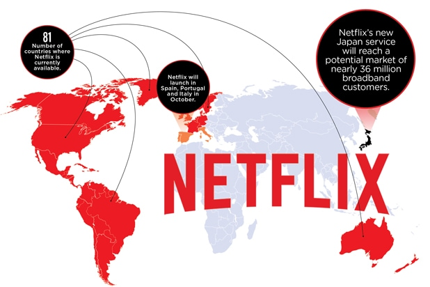 Image result for where is netflix available in the world