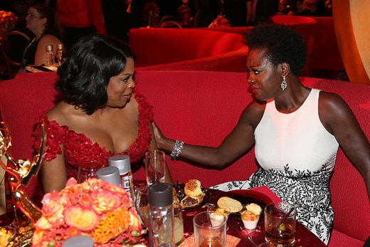 LOS ANGELES, CA - SEPTEMBER 20: (EXCLUSIVE COVERAGE) Actros Niecy Nash and Viola Davis attends HBO's Official 2015 Emmy After Party at The Plaza at the Pacific Design Center on September 20, 2015 in Los Angeles, California. (Photo by FilmMagic/FilmMagic)