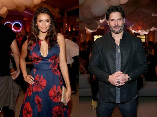 Nina Dobrev and Joe Manganiello. (John Schuilli/Getty Images)