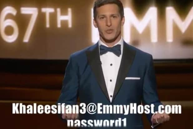 Andy Samberg Gives Out Free HBONow Login During Emmys