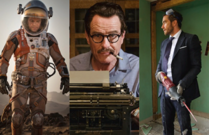 "Matt Damon in ""The Martian,"" Bryan Cranston in ""Trumbo"" and Jake Gyllenhaal in ""Demolition"""